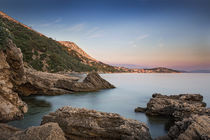 Coast during sunset in Krk, Croatia von Bastian Linder