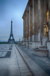Eiffel Tower in rain at Trocadero, Paris von Bastian Linder