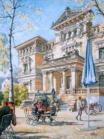 Leipziger Biergarten vor historischer Villa von Ronald Kötteritzsch