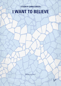 No792 My I Want to Believe minimal movie poster von chungkong