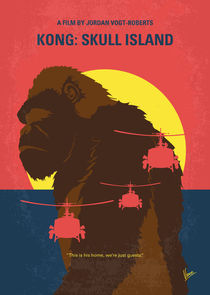 No799 My SKULL ISLAND minimal movie poster by chungkong