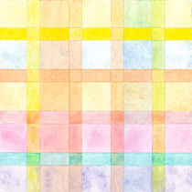 Pastel colored Watercolors Check Pattern  by Heidi  Capitaine