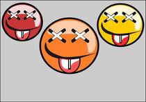 Three faces graffiti  von Jutta Ehrlich