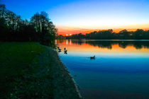 Sunset at Whitlingham Lake, Norwich, U.K  by Vincent J. Newman
