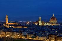 Florenz in der blauen Stunde von Peter Bergmann