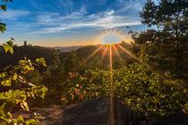 Sonnenuntergang hinter Trifels by Christian Braun