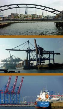 Im Hamburger Hafen von Hartmut Binder