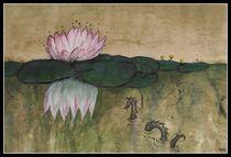 Water Lily with Loch Ness Monster  by dieroteiris