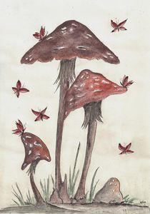 Family of Mushrooms by dieroteiris