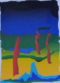 Abstraktion gelb grün mit Söhnen by art-dellas