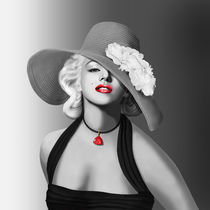 Marilyn in Colorkey von Monika Juengling