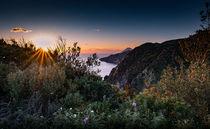 Sunset over the coast of Lipari von Richard Gruber