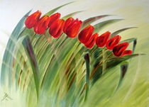 """Tulpen im Wind"" by Hans Hackinger"