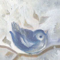 A Little Sparrow. Cute Bird In Cold Winter von mikart