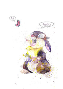 Thumper Meets Butterfly _ HI - HALLO by mikart