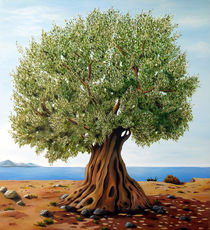 Olivetree - Original painting on canvas by Georgia Korogiannou