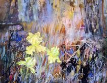 gelbe Iris von Helga Koch