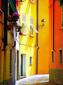 Bunte Gasse in Sarzana, Ligurien, Italien von Klaus Rünagel