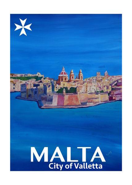Retro-poster-malta-valetta-city-of-knightsi