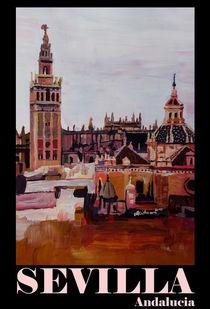 Sevilla Spanien Andalusien mit Giralda - Retro Vintage Poster von M.  Bleichner