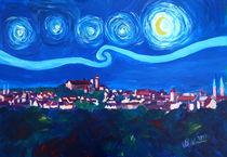 Sternennacht in Nürnberg - Van Gogh Inspirationen mit Kaiserburg von M.  Bleichner