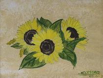 sonnenblume akryl auf  leinwand von Edmond Marinkovic