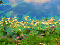 Autumn leaves on water 5 by lanjee chee