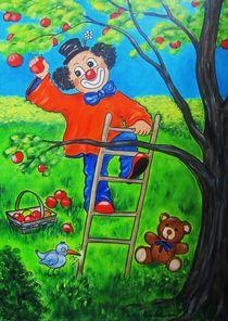 Apfelernte - Clown Nr. 6 - von Ulrike Sallós-Sohns