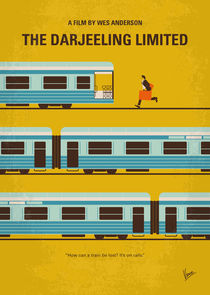 No800 My The Darjeeling Limited minimal movie poster by chungkong