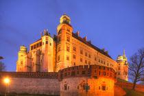 Wawel Castle at dusk, Krakow, Lesser Poland, Poland, Europe by Torsten Krüger