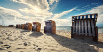 Beach Chairs at Baltic Sea by h3bo3