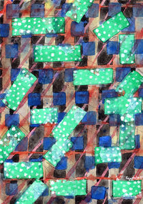 Dotted Green Rectangles on Top Pattern  von Heidi  Capitaine