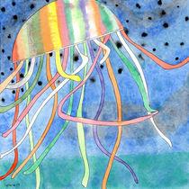 Rainbow Colored Jelly Fish  von Heidi  Capitaine