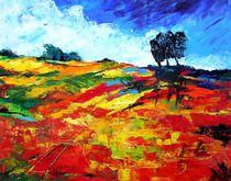 Landschaft, Rot by Eberhard Schmidt-Dranske