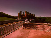 Conway Castle (Digital Art) von John Wain