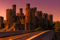 Conway (Conwy) Castle (Digital Art) von John Wain