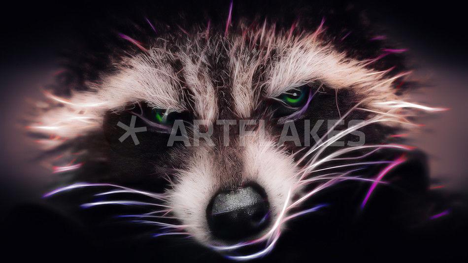 Rocket Raccon Guardians Of The Galaxy Digital Art Prints And