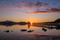 Sonnenuntergang am Hopfensee  by Christine Horn