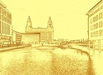 Liver Building from Princes Dock (Digital Art) by John Wain