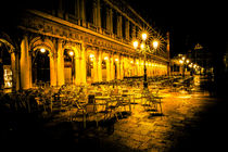Venice Cafe at Night by Lev Kaytsner