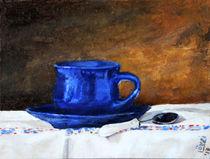 Blue cup by Éva Lövei