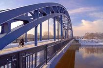 Sternbrücke über die Elbe in Magdeburg im WInter by magdeburgerin