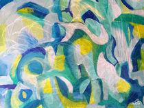 Blaugelb abstrakt von ulrike-gerspacher