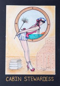 CABIN STEWARDESS by Patricia Lemoine