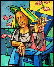 Frau im Garten von David Joisten