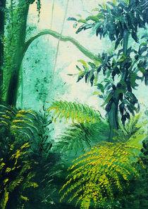 Rainforest Lights and Shadows painting von bluedarkart-lem