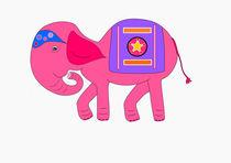 Pink elephant by Jutta Ehrlich