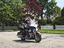Motorcycle Police Officer von Susan Savad