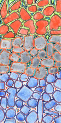 Summer Heat over Refreshing Water Pattern von Heidi  Capitaine