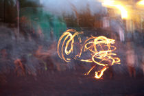 Feuershow am Strand von La Gomera by frakn